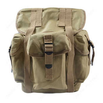 WW2 US Army M14 Military Backpack Hiking CANVAS Bag KHAKI AND ARMY GREEN - DISCOUNT ITEM  5% OFF Sports & Entertainment