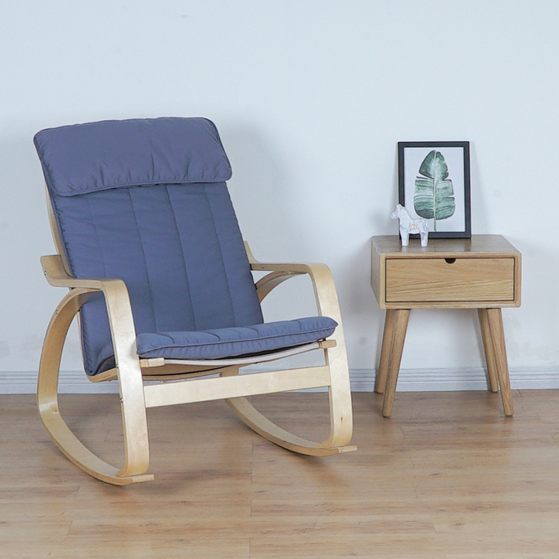 Comfortable Relax Wood Adult Rocking Chair Armchair Living