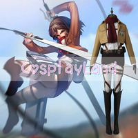 Ataque en Titán Shingeki no Kyojin Mikasa Ackerman Cosplay Set Completo Uniforme Formación Kyojin Anime Adulto Mujeres Disfraces de Halloween