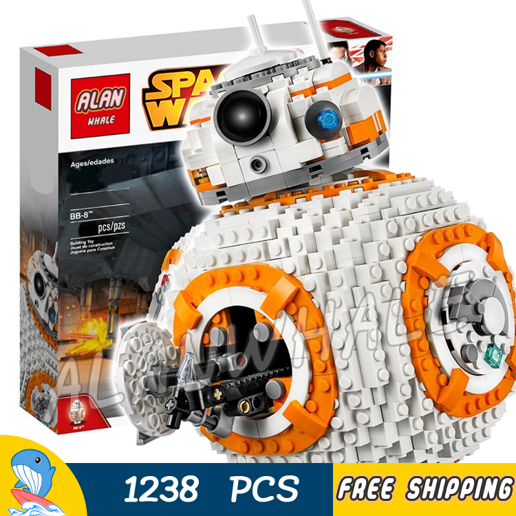 1238pcs Space Wars Hero Droid BB-8 Robots Figure 05128 Model Building Blocks Assemble Toys Bricks Jedi Set Compatible With Lego 499pcs new space wars at dp robots 10376 model building blocks toys gift rebels animated tv series bricks compatible with lego