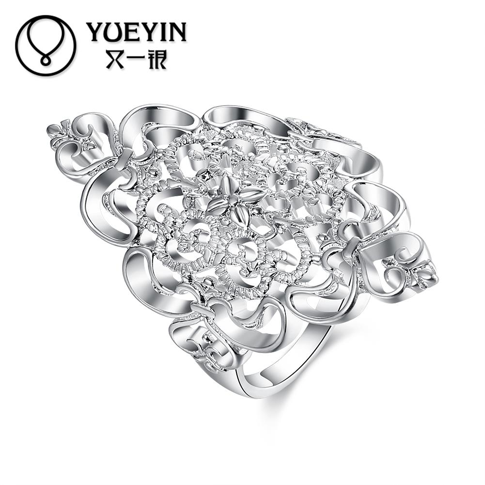 Female jewelry silver plated wedding rings silver-plating jewelry anel feminino Never fade Original designs ladies rings