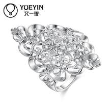 Female jewelry silver plated wedding rings silver-plating jewelry anel feminino Never fade Original designs ladies rings(China)