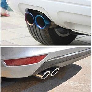Image 5 - ZD 2 قطعة اكسسوارات السيارات ل Volkswagen بولو جولف 6 جيتا MK6 1.4T VW Golf 7 MK7 بورا السيارات السيارات العادم تلميح الخمار الأنابيب يغطي