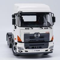 Exquisite Alloy Model 1:24 HINO 700 Heavy Duty Truck Tractor Trailer Vehicles DieCast Toy Model for Collection Decoration
