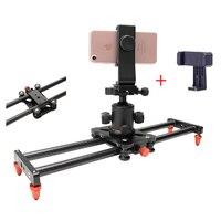 Mini 40cm 5kg bear Carbon fiber camera slider travel portable video slider dolly track for Sony Nikon Canon Iphone X 8 Sumsang