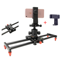 Mini 40cm 5kg bear Carbon fiber camera slider travel portable video slider dolly track for Sony Nikon Canon Iphone X 8 Sumsang