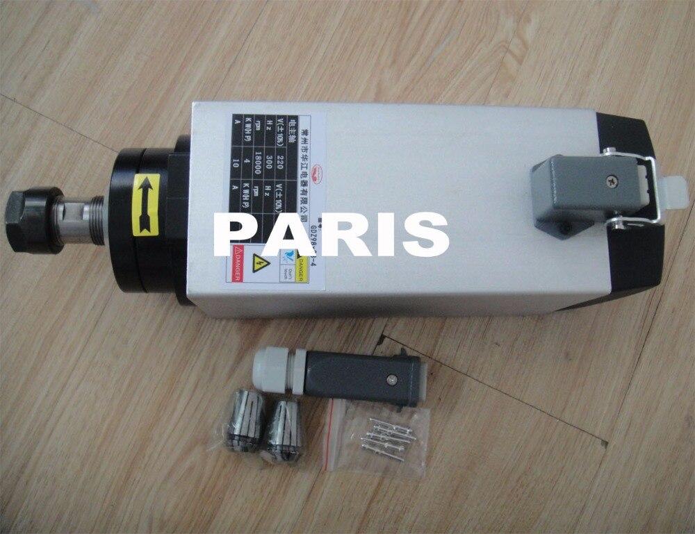 kit de husillo cnc husillo 4KW ER20 AC380V + inversor VFD 4K3 - Piezas para maquinas de carpinteria - foto 2