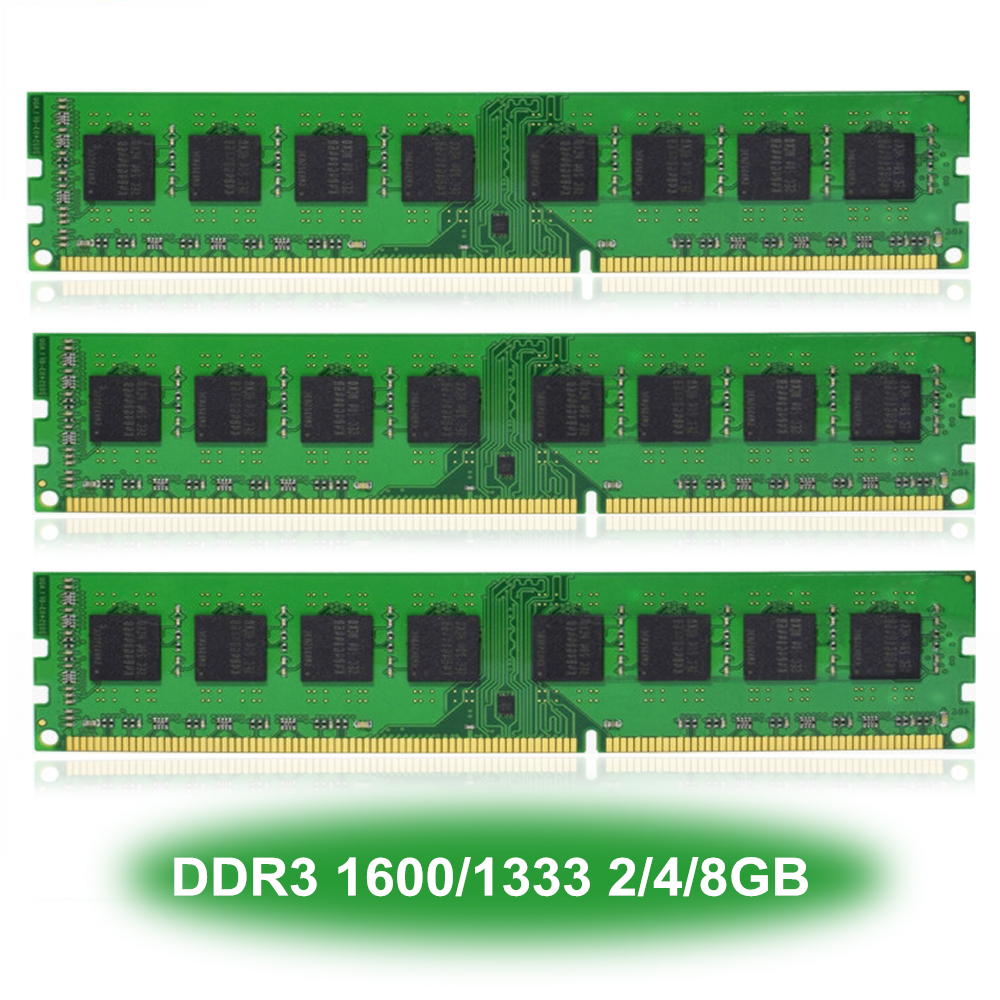 Desktop PC Computer DIMM Memory RAM <font><b>DDR3</b></font> 1600/1333MHz 8/4/2GB <font><b>PC3</b></font>-12800/<font><b>10600</b></font> CL11/CL9 240-PIN NON-ECC Only For AMD CPU image