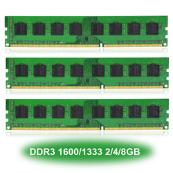 Pulpit komputer stancjonarny DIMM pamięć ram DDR3 1600/1333MHz 8/4/2GB PC3-12800/10600 CL11/CL9 240-PIN NON-ECC tylko dla procesor amd