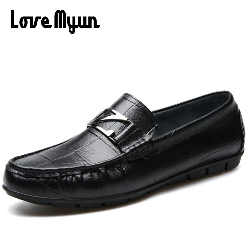 Male Driving Loafers Shoes Men Genuine Leather Boat Flats Loafer Shoes Round Toe Black Slip On Casual leather Shoes II-79Z supper comfort mens genuine leather loafer shoes 2015 spring hand made loafers slip on flats for man shoes casual driving shoes