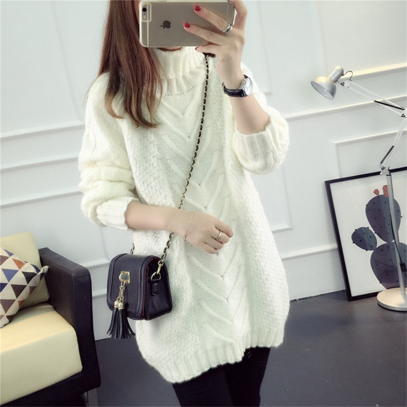2017 Winter fashion Handmade Crochet hook Sweater Women winter Thick coarse  linesThick and warm High,