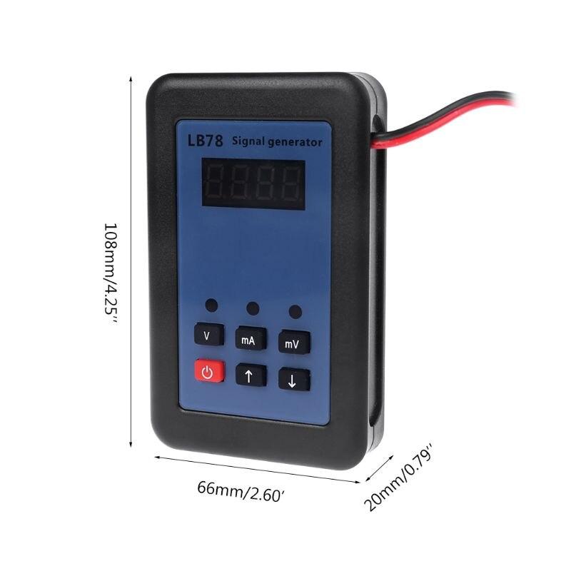 Nouveau générateur de Signal de tension de courant 4-20mA/0-10 V/mV testeur de Signal de calibrateur de Source de Signal qiang - 3