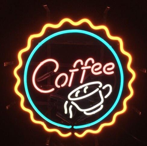 Café café personnalisé boisson verre néon signe barre de bière