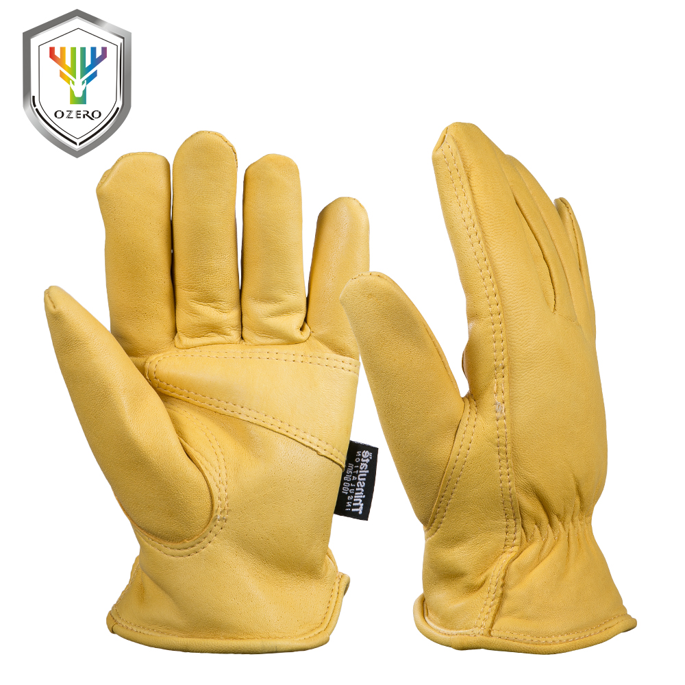 Mens yellow gloves - New Men S Work Gloves Goat Leather Security Protection Safety Workers Working Welding 30 Warm Waterproof