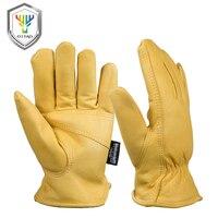 OZERO Männer der Arbeit Handschuhe Ziege Leder Sicherheit Schutz Sicherheit Arbeiter Arbeiten Schweißen 30 Warme Wasserdichte Handschuhe Für Männer 0002-in Schutzhandschuhe aus Sicherheit und Schutz bei