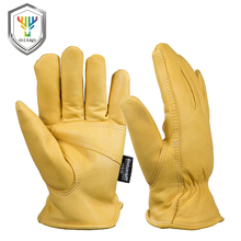 OZERO Mens Work Gloves Goat Leather Security Protection Safety Workers Working Welding  30 Warm Waterproof Gloves For Men 0002