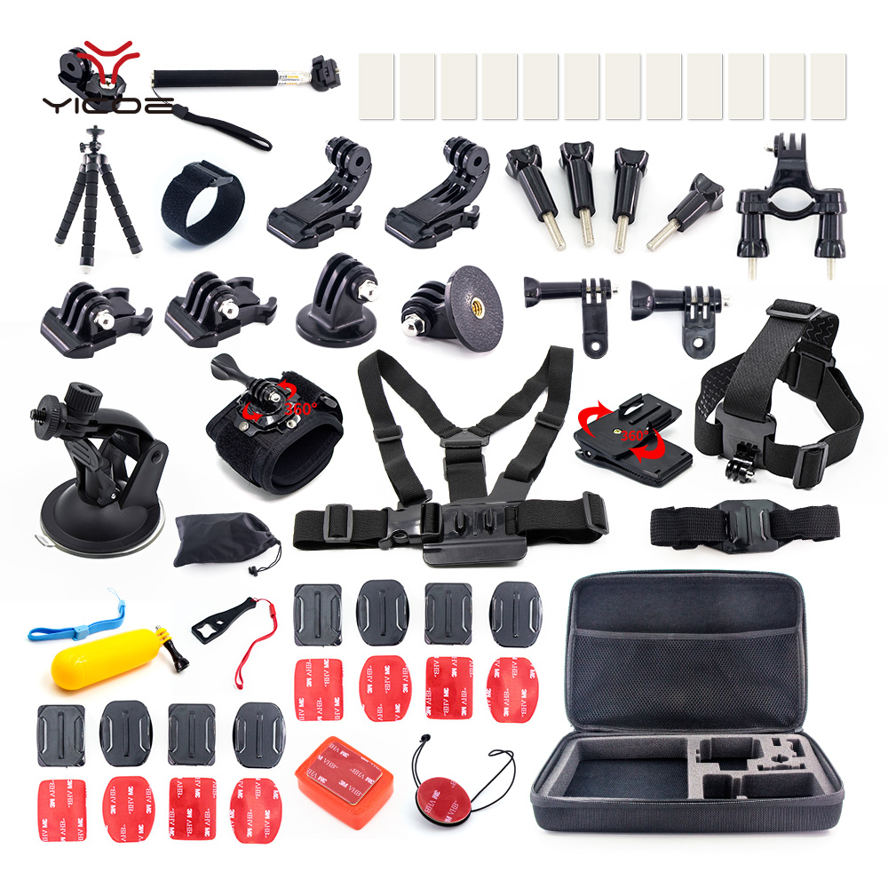 Mount Tripod Monopod Clip Case Box for Go pro Gopro HERO Session 6 5 4 3 SJCAM SJ4000 SJ7 Xiaomi yi 4k EKEN H9 Accessories Kit shoot metal 1 4 mini tripod adapter mount for gopro hero 7 6 5 4 session xiaomi yi 4k sjcam sj4000 eken h9 go pro hero accessory