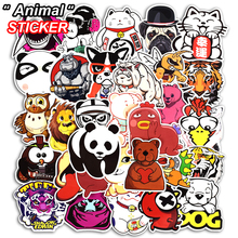 New 50 Pcs Cute Animal Sticker for Bike Laptop Car Styling Skateboard Doodle Funny DIY Stickers Home Wall decor Toy Vinyl Decal