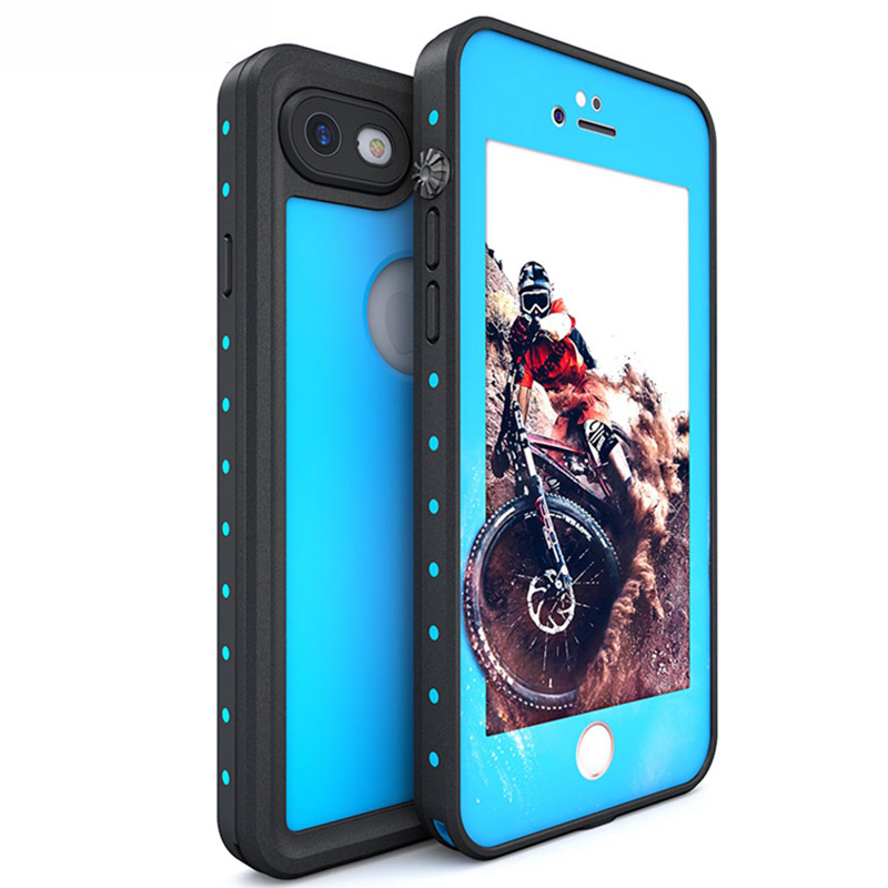 """Redpepper Water Case For iPhone 7 4,7 """"/ 7 plus 7 Plus 5,5"""" Submerge Underwater Cover Hard PC + TPU Hybrid Armor Case AntiShock"""