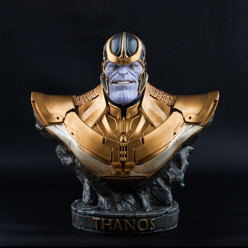 Free DHL Shipping Novelty Resin Thanos Bust Statue Toy Figure Model Avengers figurine Cool Gift for Man Boys Marvel Toys Decor