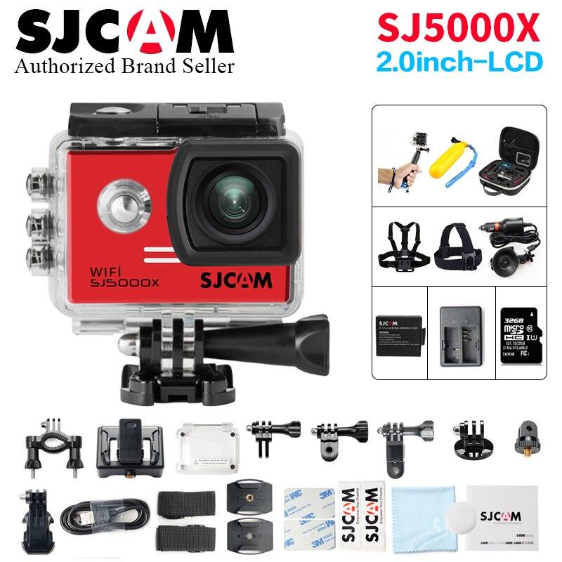 Caméra d'action SJCAM SJ5000X Elite WiFi télécommande Ultra HD 4 K 24fps 2K30fps Gyro casque Action Cam étanche Sport cam