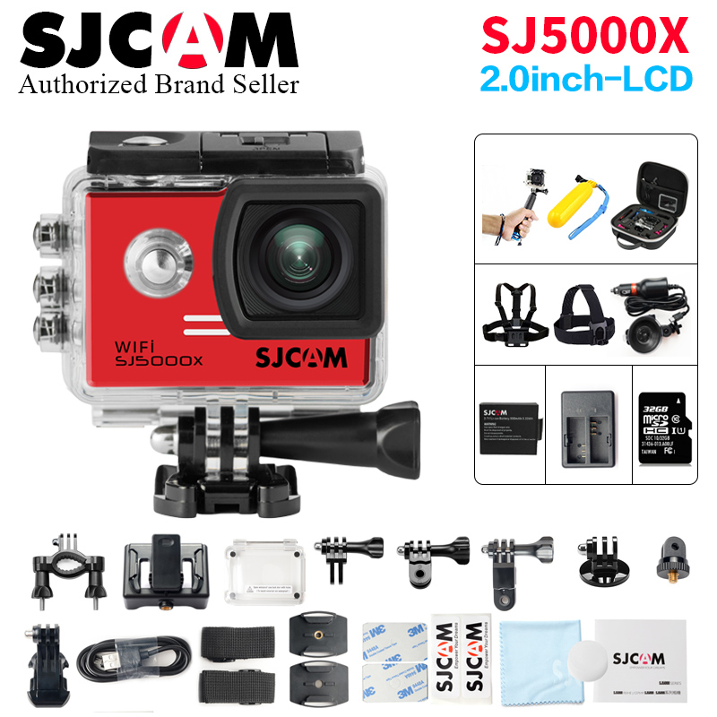 Action Camera SJCAM SJ5000X Elite WiFi Remote Control Ultra HD 4K 24fps 2K30fps Gyro Helmet action Cam go waterproof pro Sport c free shipping original sjcam sj5000x elite wifi 4k 24fps 2k 30fps gyro sports action camera