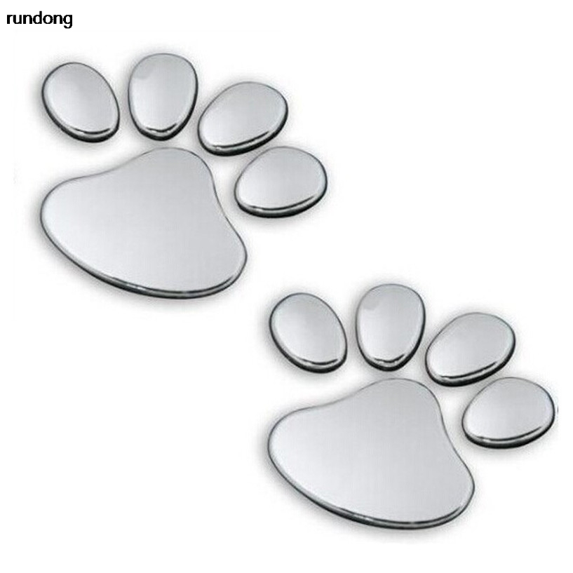 2017 Pet Animal Paw Footprints Emblem Car Truck Decor 3D Sticker Decal  car sticker 3d светильник декоративный 3dlightfx paw patrol rocky mini 3d