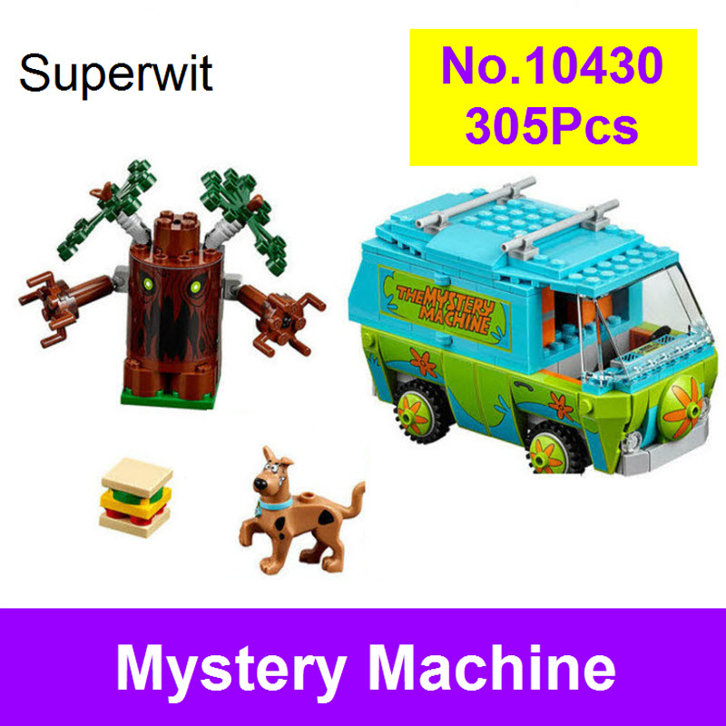 Superwit New Bela 10430 Scooby Doo The Mystery Machine Bus Building Blocks Compatible Lepin 75902 Figure Brick Toy For Children стоимость