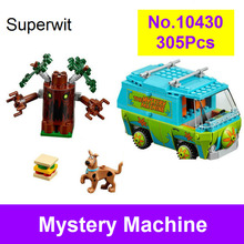 Superwit New Bela 10430 Scooby Doo The Mystery Machine Bus Building Blocks Compatible Lepin 75902 Figure