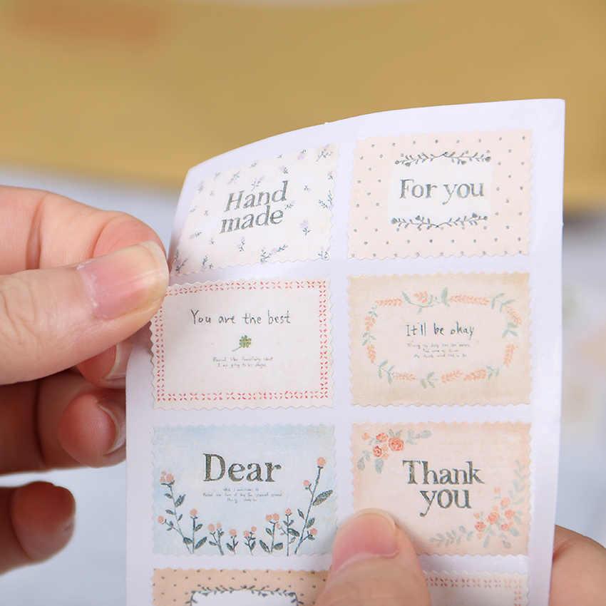16 unids/set papel creativo sello pegatina decoración pegatina diario álbum Scrapbooking sobre sello papelería pegatina