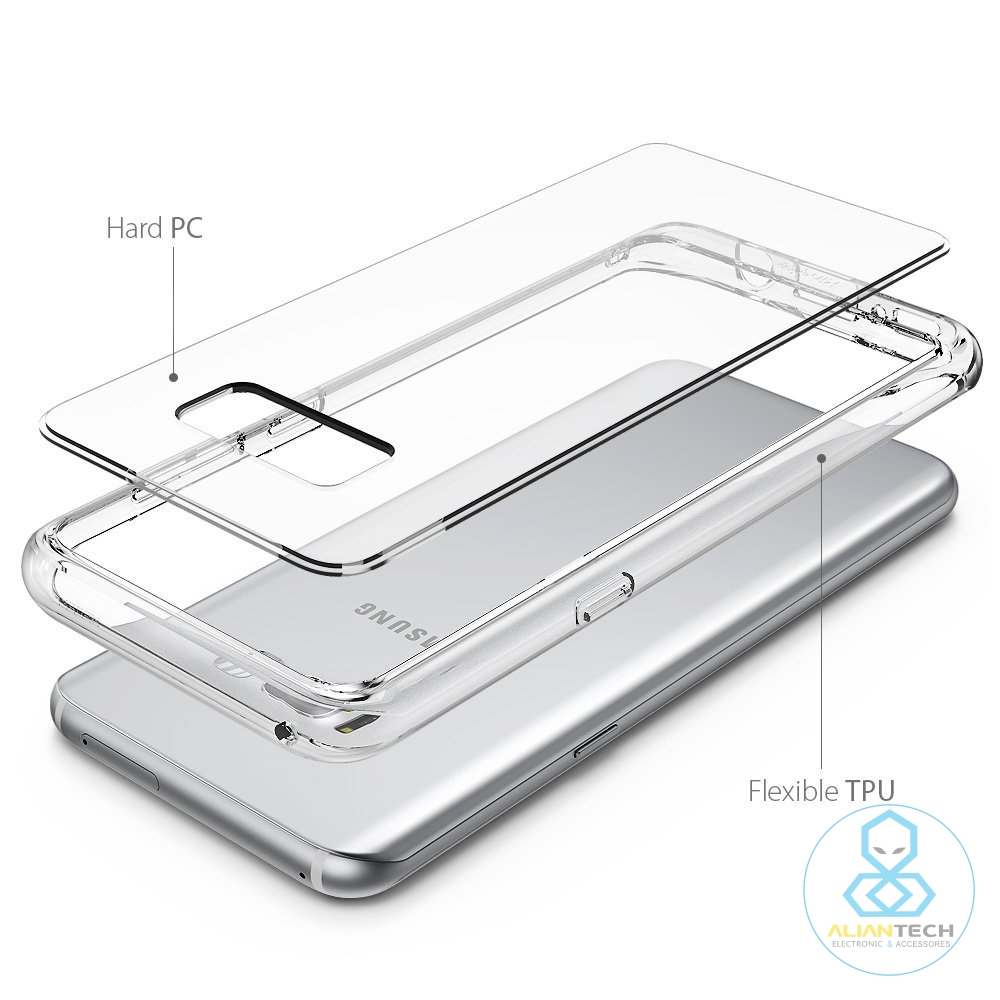 Fusion Galaxy S8 / S8 Plus Clear Back Panel Mil-Grade Drop Proof Cases For Samsung Galaxy S8 / Galaxy S8+