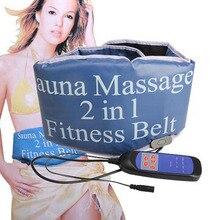 Sauna Massage 2 in 1 Fitness Belt Men Women Slimming Bandage Heat Vibrator Belt Sport Gym Slim Patch Weight Loss Muscle Exercise