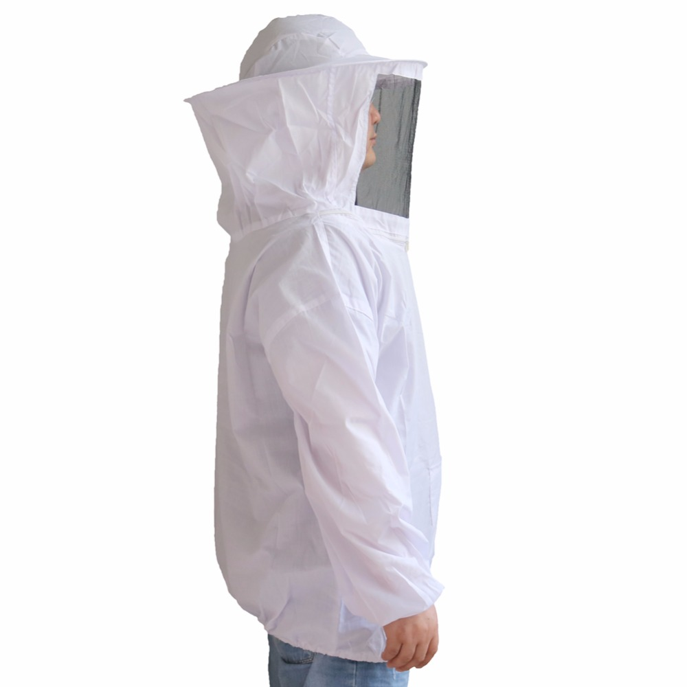 1 Pcs New White Clothing Beekeeper Beekeeping Protective Clothing Suitable for height 150cm-180cm