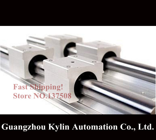 2 pcs SBR16 1165mm linear bearing supported rails+4pcs SBR16UU for cnc parts