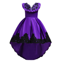 Formal 3 To 12 13 14 15 16 Year Old Girls Dresses for Party and Wedding Ruffles Rhinestone Girl Evening Dress Kids Long Back