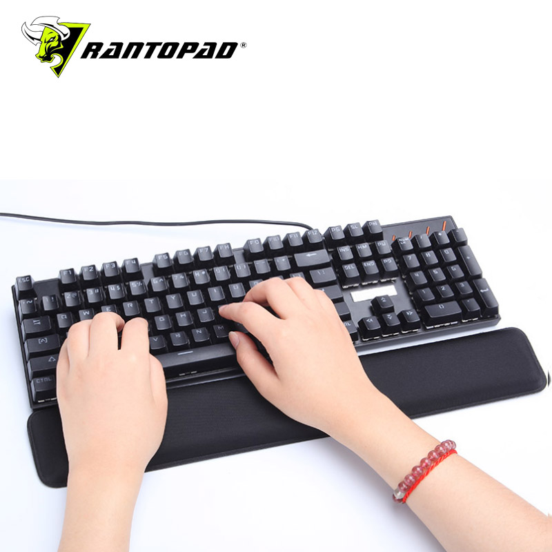 Rantopad44.5X45.5X2cm Keyboard Wrist Pad Laptop Rubber Anti-slip Ergonomic Black Memory Foam Wrist Game Mouse Pad