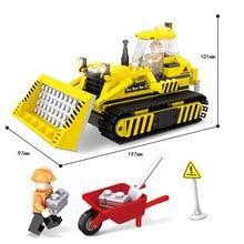 334 piezas ciudad Ingenieria Construccion oruga Bulldozer bloques ladrillos ninos juguetes regalo Legoing цены