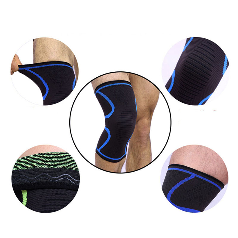 1PCS Running Fitness Cycling Knee Pads Sleeve Support Braces Elastic Nylon Sport Compression Knee Pad Sleeve For Basketball