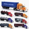 1:6 5 camiones, portadores de américa, modelos de aleación, recipiente plano modelo de simulación de coches, juguetes modelo de coche. modelo de transporte