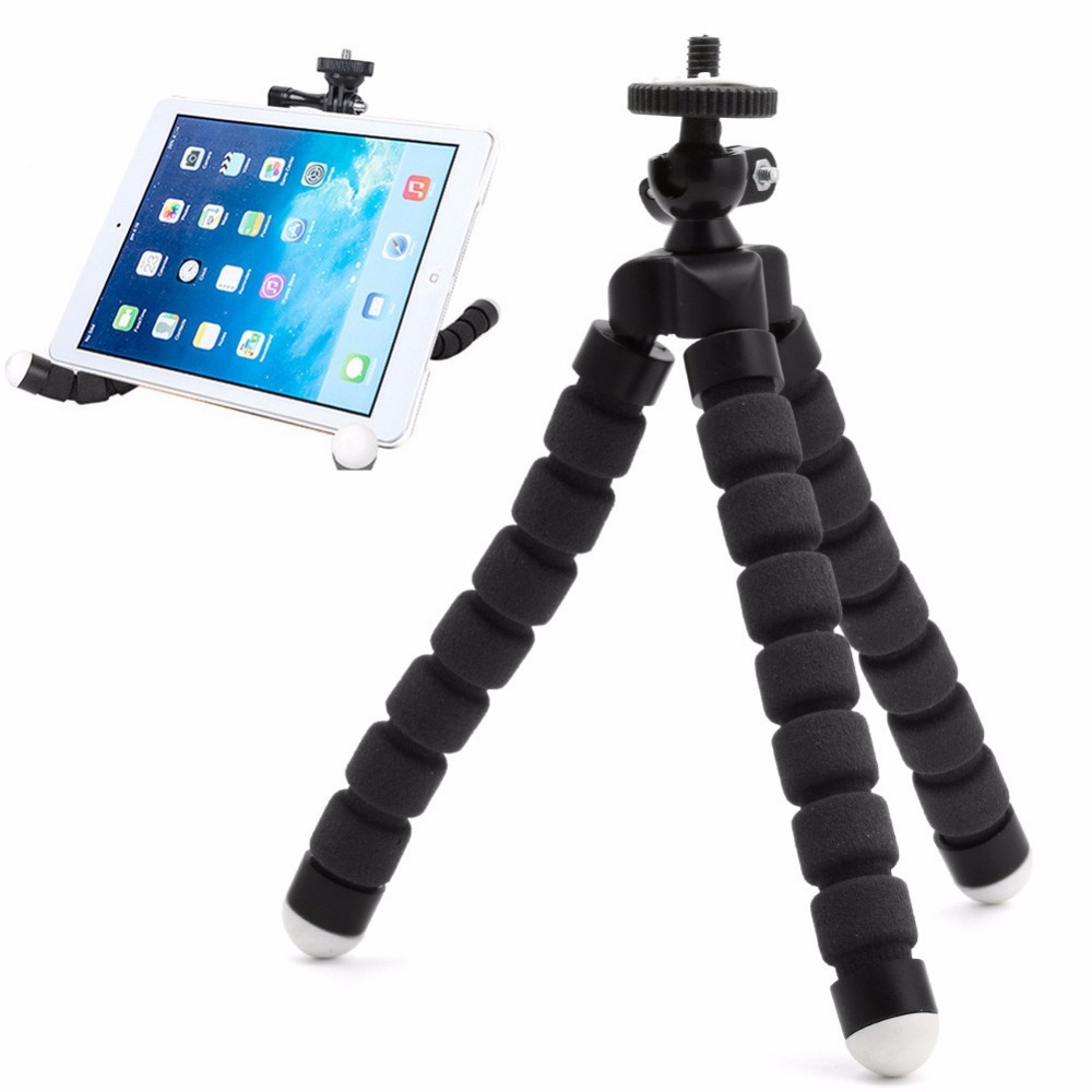 Mini Flexible Sponge Octopus Tripod For iPhone Samsung Xiaomi Huawei Tripod For GoPro Action Camera Tripod Stand Mount
