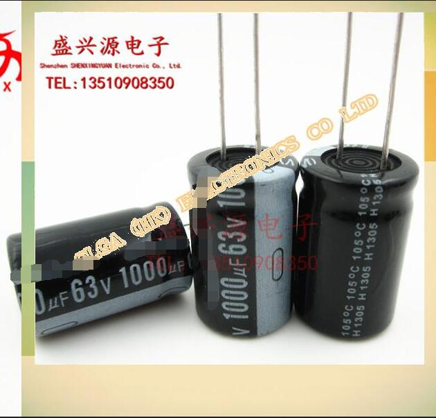 <font><b>63</b></font> v1000uf <font><b>1000</b></font> uf63v plug-in aluminum electrolytic capacitor size: 16 x25 image