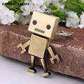 Fancy&Fantasy 2016 New Creative Key Ring Activities Lovely Tray Robot Keychain Zinc Alloy Pendant Car Key Chains Gift K-182