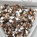 1000pcs 2 mm - 6 mm Mixed Size charming beautiful Champagne 14 facet round diamond sparkling acrylic nail art decoration N07