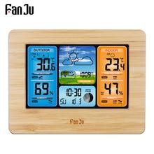 FanJu FJ3373 Метеостанция Цифровой термометр гигрометр беспроводной датчик погоды Температура Часы настенные настольные часы будильник