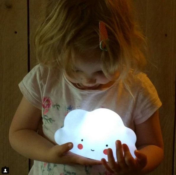 Novelty Cloud Face Night Light Childrens Bedroom Nursery