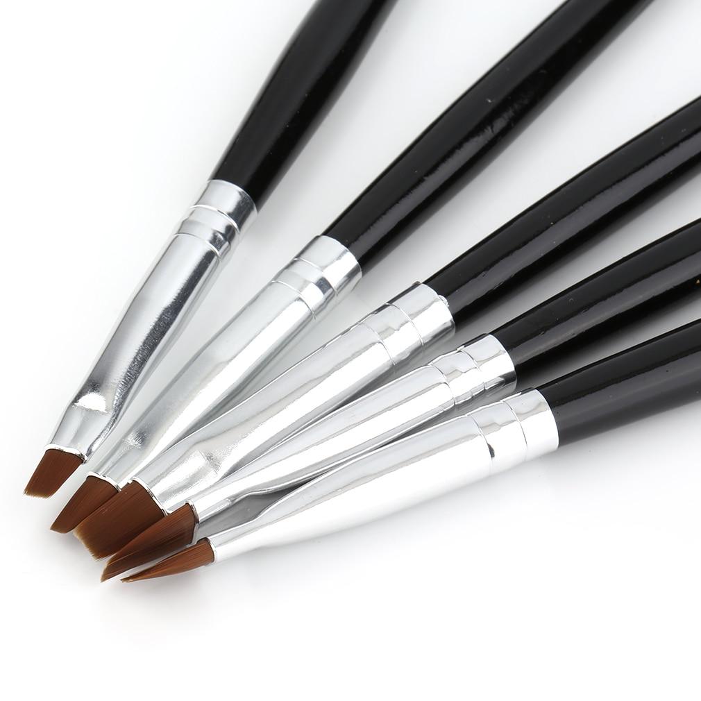 Nail Art Brush: 5 Sizes Professional Acrylic Nail Art Brush Set Perfect