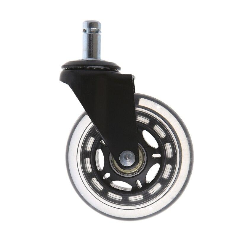 Universel 3 /2.5 PU chaise de bureau roulettes rouleau Rollerblade roulette de remplacement meubles rouletteUniversel 3 /2.5 PU chaise de bureau roulettes rouleau Rollerblade roulette de remplacement meubles roulette