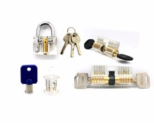 Practice Lock Set,4 Kinds of Hot Selling Transparent Locks for Learners/Locksmith