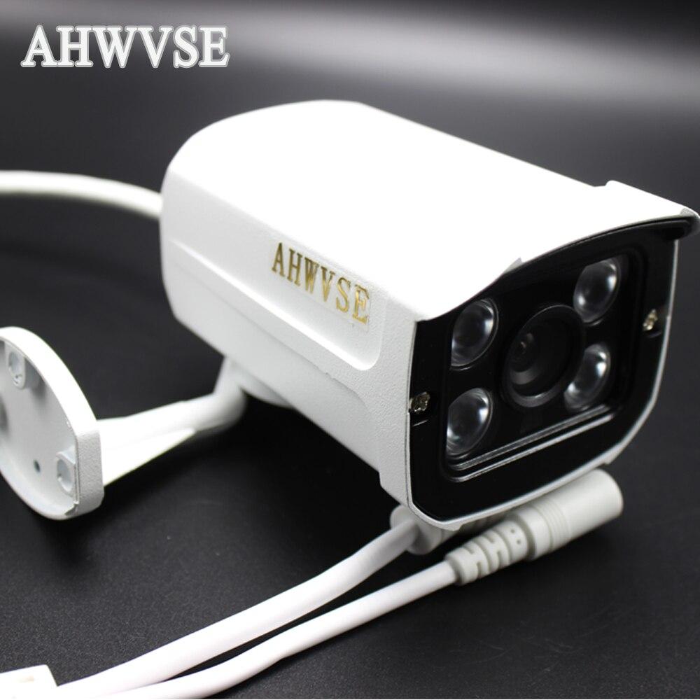 AHWVSE IP Audio PoE Camera Network Camera 4ARRAY IR LED 12mm Metal Outdoor Full HD 1080P Audio IP Camera CCTV ONVIF P2P
