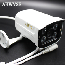 AHWVSE IP Audio PoE Camera Network Camera 4ARRAY IR LED 12mm Metal Outdoor Full HD 1080P Audio IP Camera CCTV ONVIF P2P